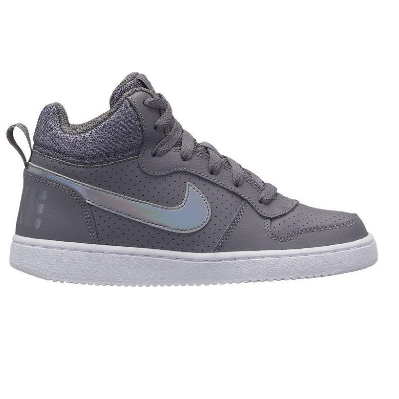 Nike NIKE COURT BOROUGH MID SE DONNA RAGAZZI GRIGIO GUNSMOKE 845107...