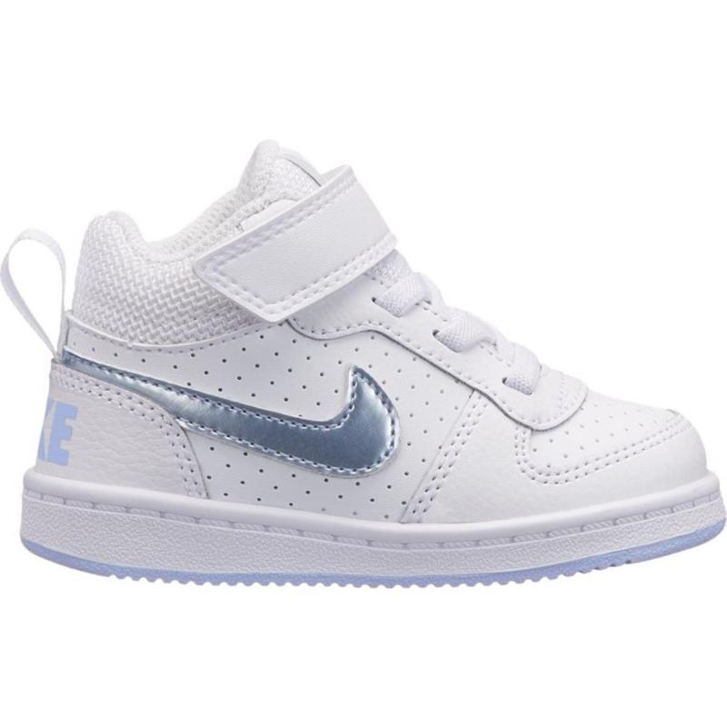 Nike NIKE COURT BOROUGH MID TDV BAMBINI BIANCO 870027-103 MAGSPORT.IT a4f5ef9cf2a