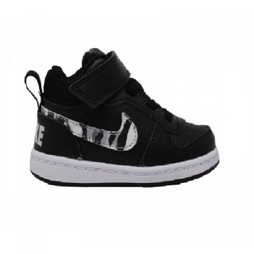 NIKE COURT BOROUGH MID TDV BAMBINI NERO CAMU
