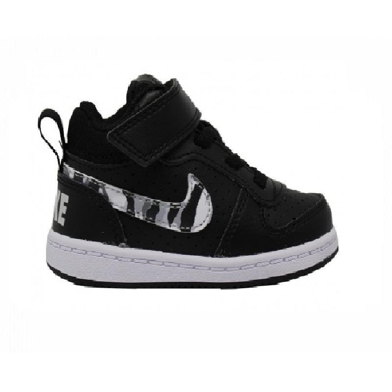 Nike NIKE COURT BOROUGH MID TDV BAMBINI NERO CAMU 870027-008 MAGSPO... da6a6945211