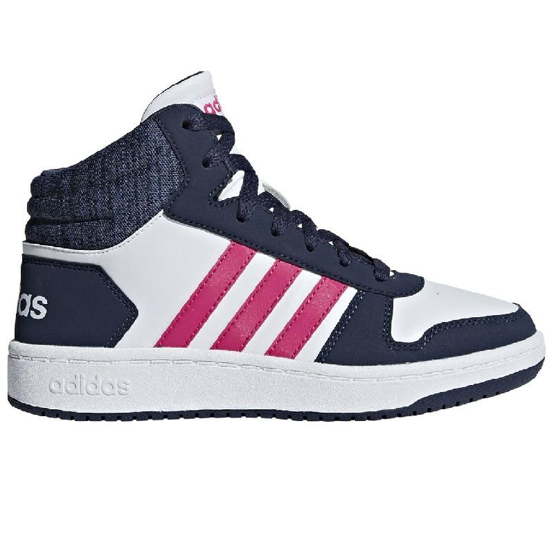 reputable site 1c459 34308 ADIDAS NEO HOOPS ALTE BIANCO BLU JEANS FUXIA BAMBINI