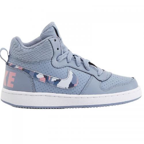 Nike NIKE COURT BOROUGH MID GS RAGAZZI AZZURRO MULTICOLOR 839977-40... fe6376e6260