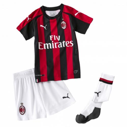 PUMA MINI SET DIVISA HOME AC MILAN 2018/2019 BAMBINI