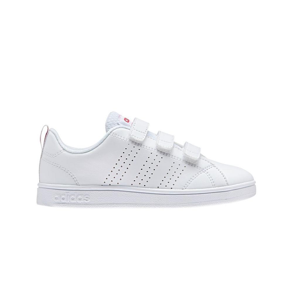 Adidas Scarpe Vs Advantage Clean CMF C Bianco//Rosa Art BB9978 Bambina