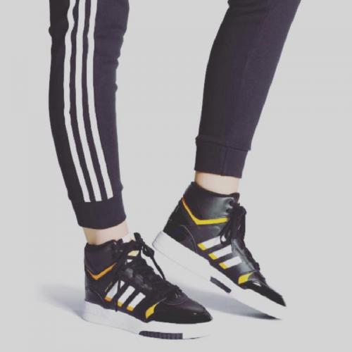 ADIDAS DROP STEP MID NERO GIALLO DONNA